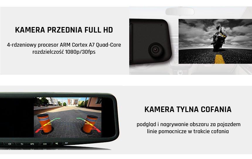 kamera samochodowa dual