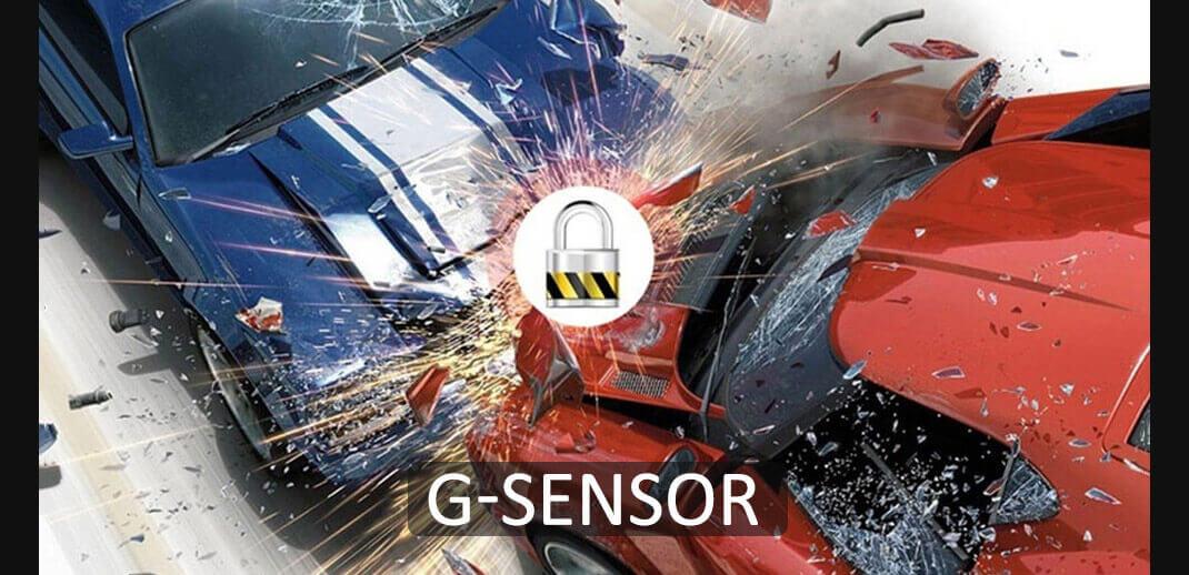 Kamera samochodowa z g-sensor