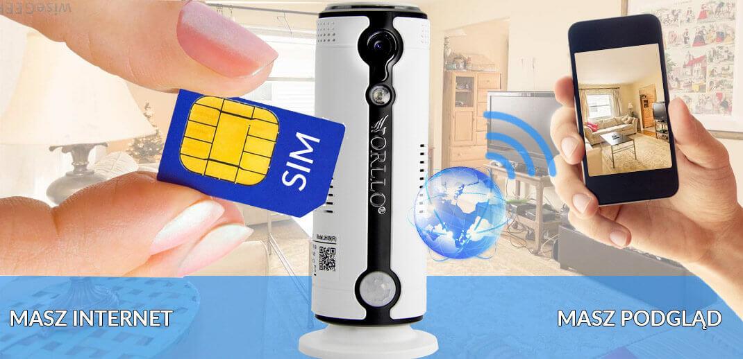 Kamera Bezprzewodowa Gsm na Kartę SIM 3G 4G LTE do domu