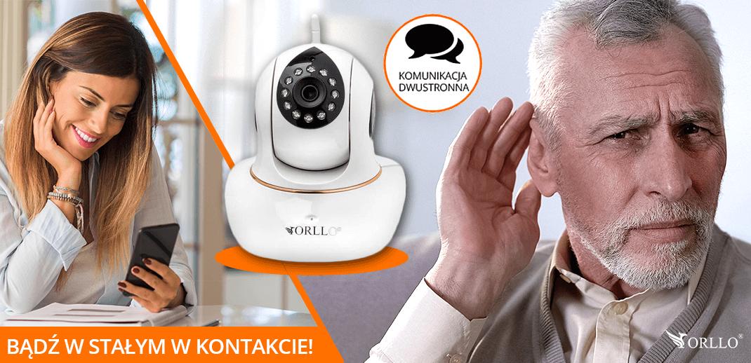 monitorowanie osób starszych w domu kamerą do podglądu przez telefon orllo.pl