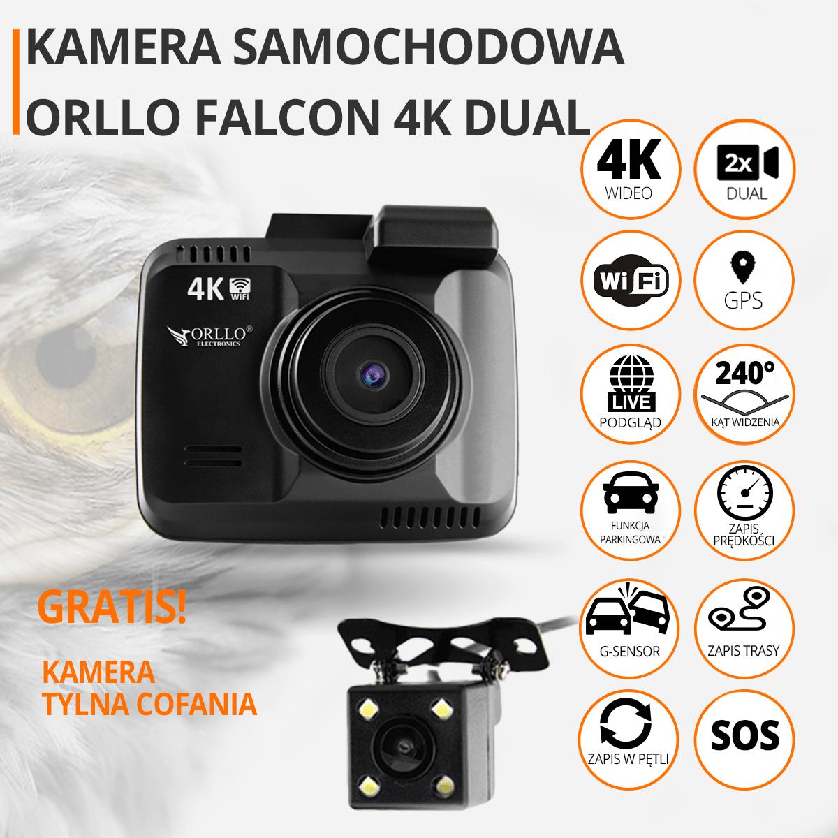 kamerka amochodowa 4K orllo.pl