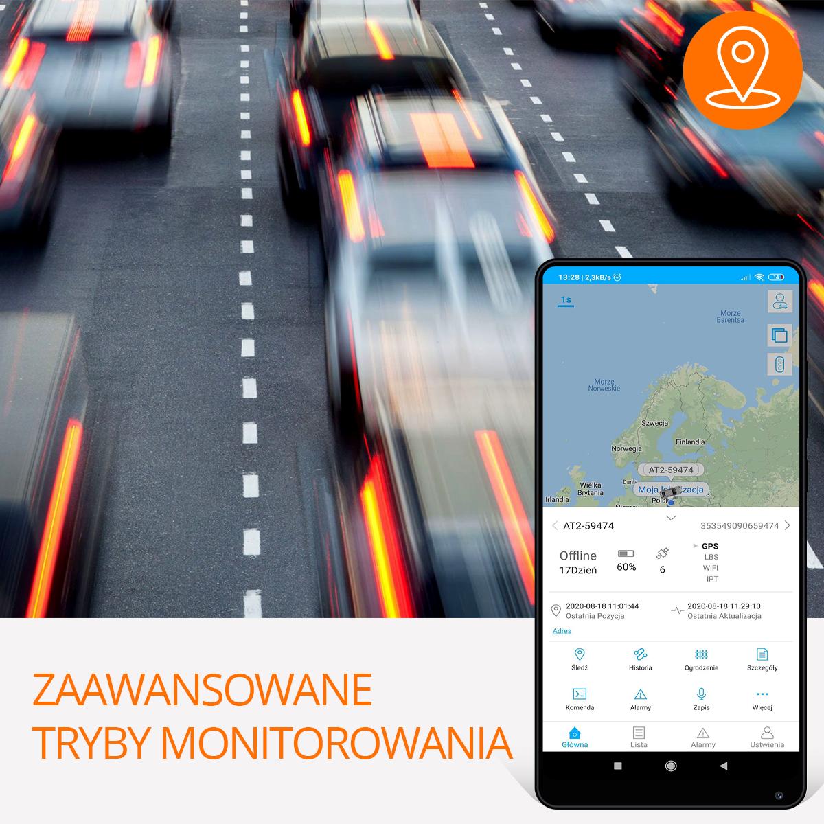 Lokalizator samochodowy tryby monitorowania orllo.pl