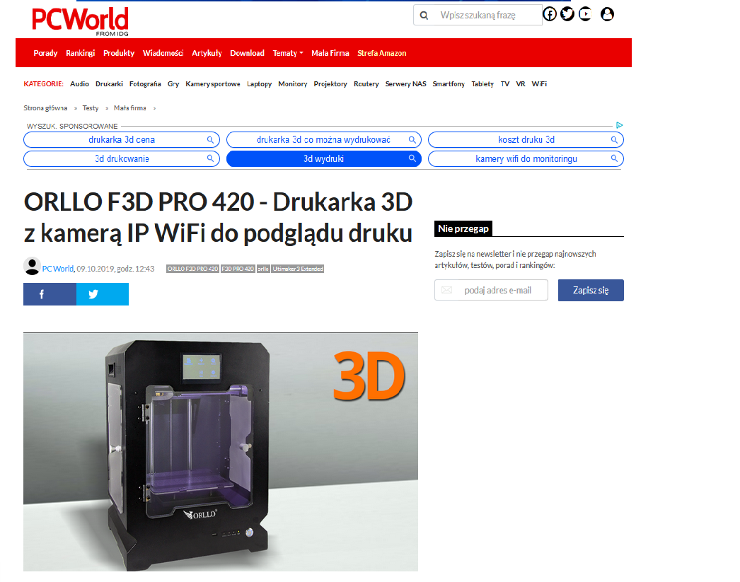 drukarka  3d testy opinie recenzja pcword orllo.pl