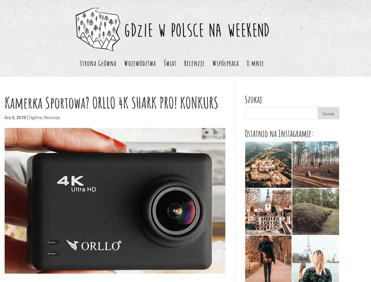 gdzie na weekend kamera sportowa 4k stabilizacja orllo.pl