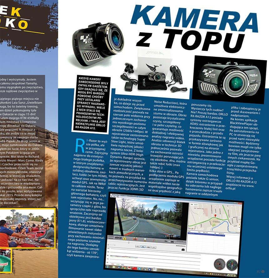 Test kamery samochodowej RX-RAZOR A12
