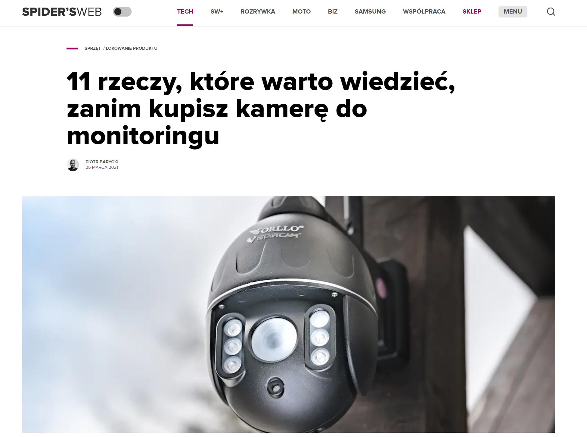 kamera obrotowa bezprzewodowa testy opinie recenzja auto światorllo.pl
