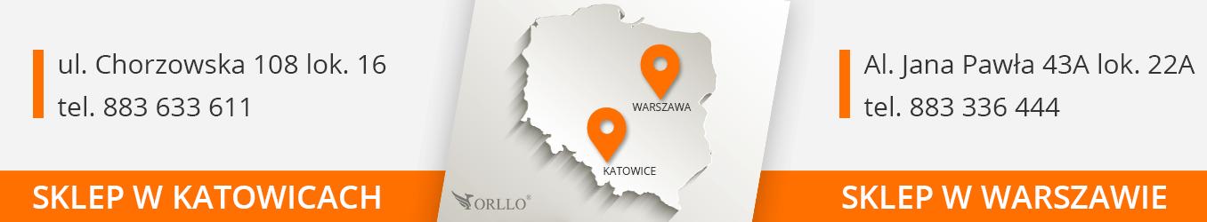 Sklep stacjonarny Warszawa Katowice ORLLO