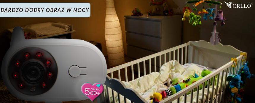 bezprzewodowy baby monitor z diodami IR