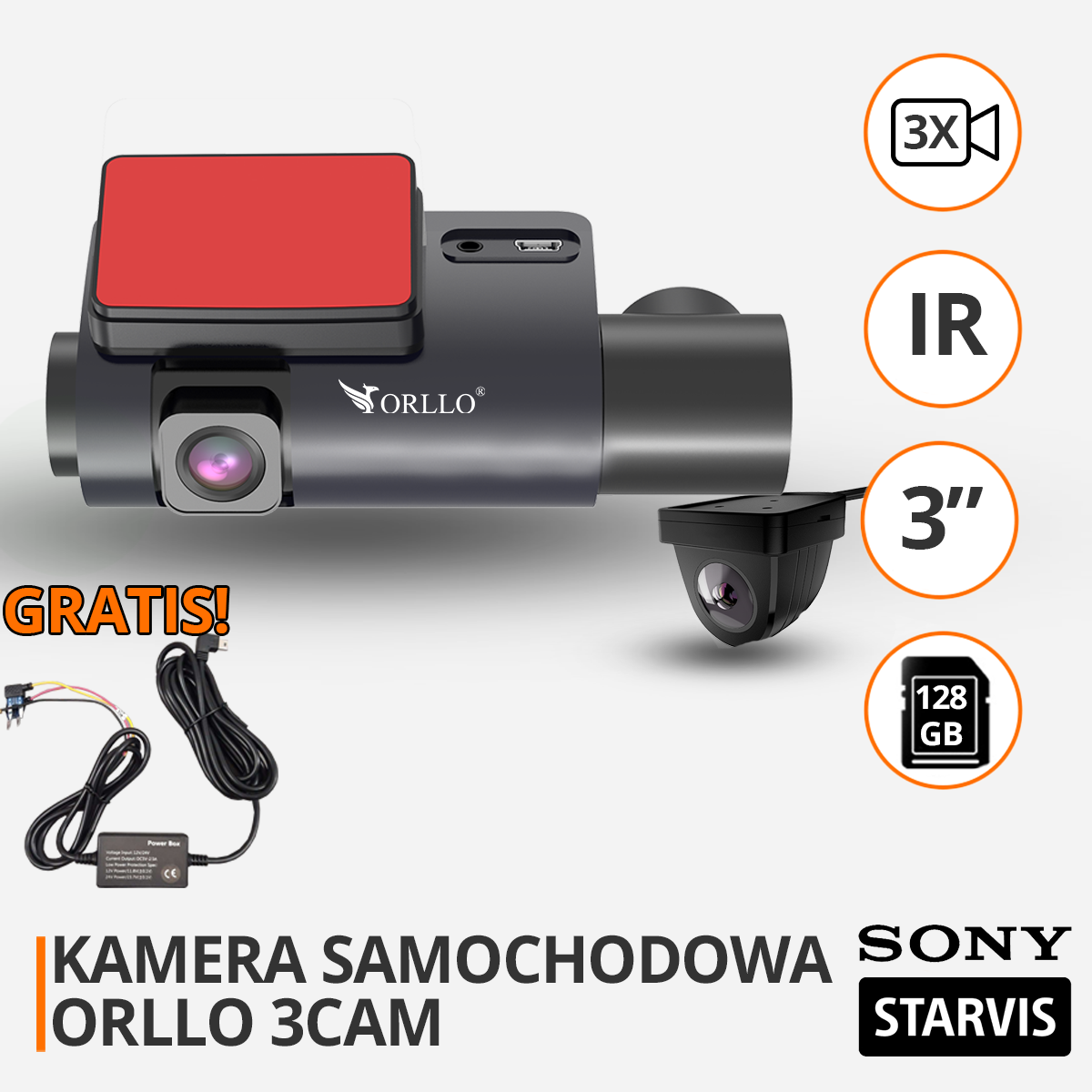 kamera samochodowa 3 kamery funckje orllo-pl