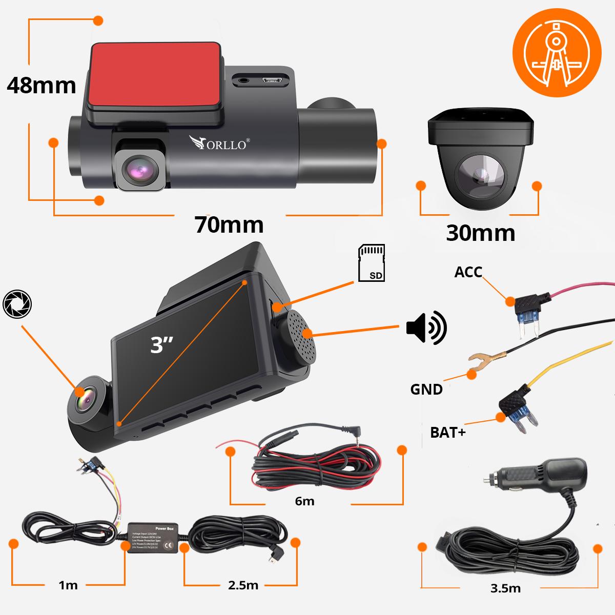 kamera samochodowa specyfikacja orllo.pl