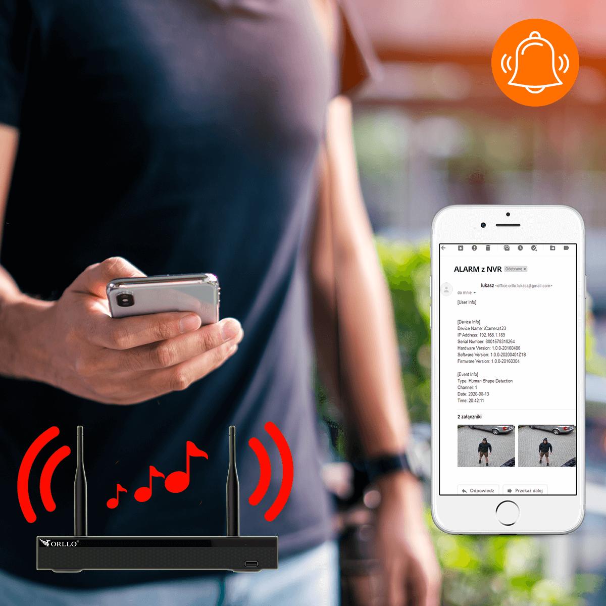 rejestrator ip wifi alarm buzzer rllo.pl