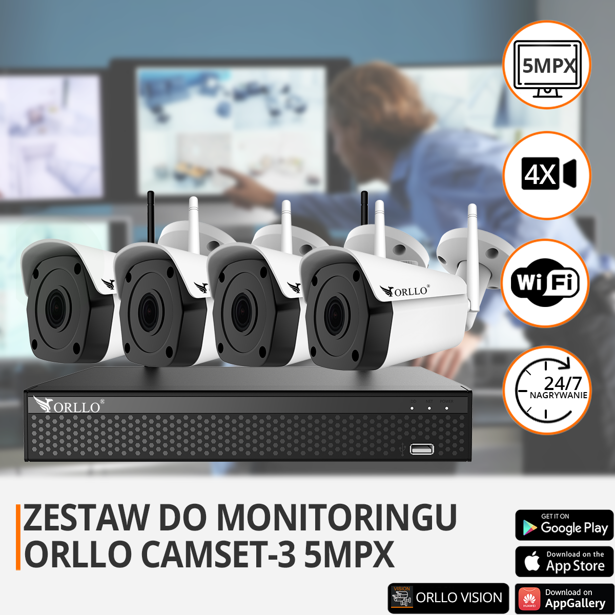 zestaw do monitoringu ip wifi funkcje orllo.pl