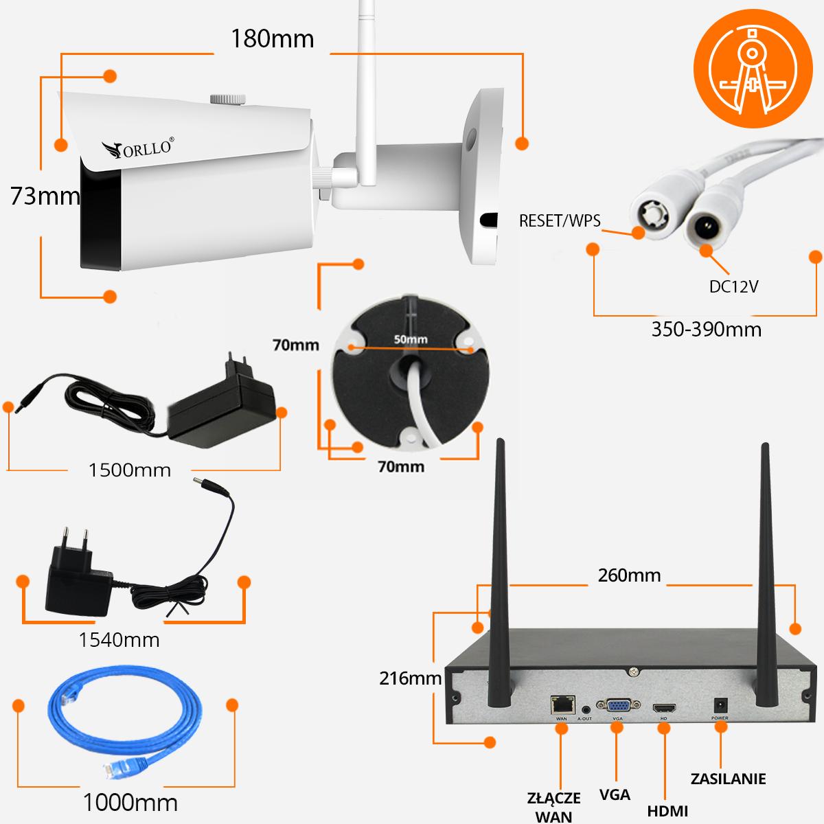 kamery monitoring domu specyfikacja opis orllo.pl