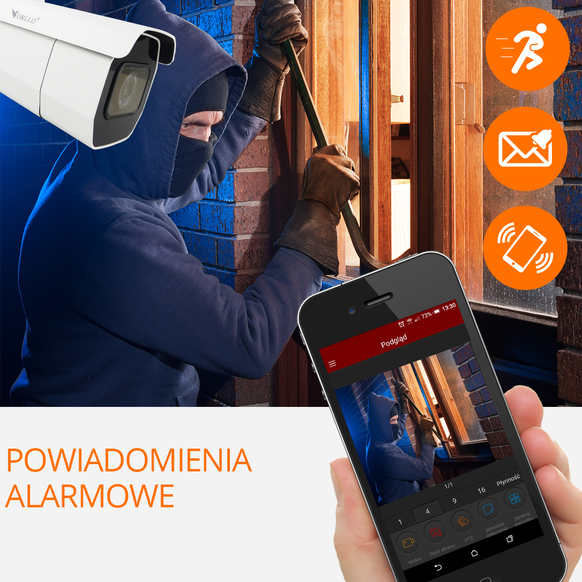 kamera z wykrywaniem ruchu alarm orllo.pl