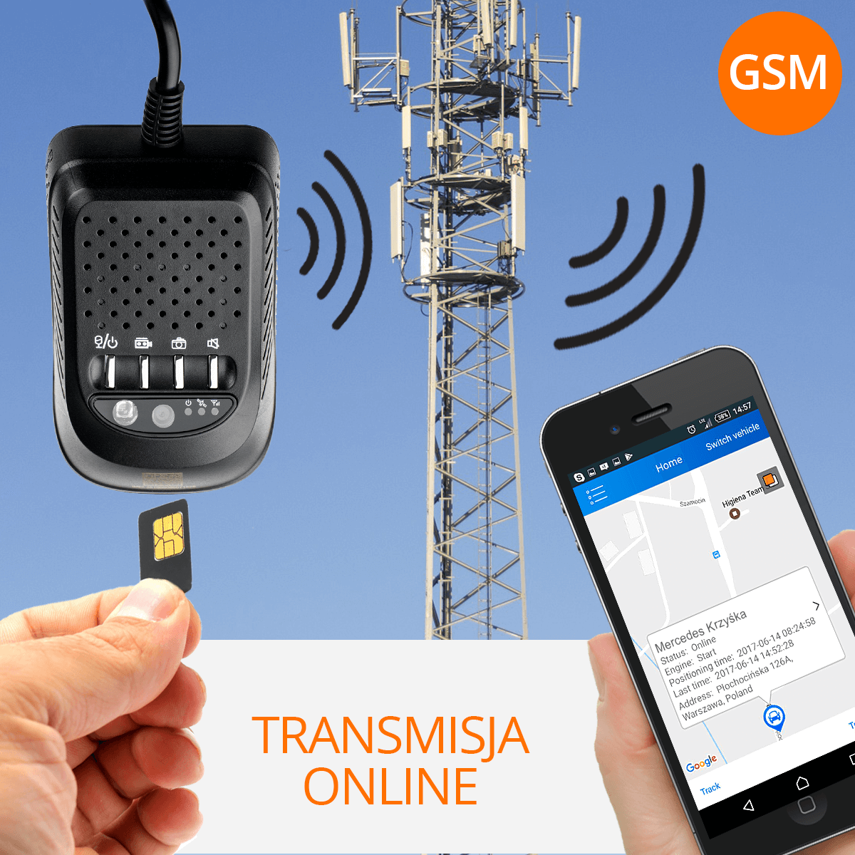 kamera samochodowa GSM orllo.pl