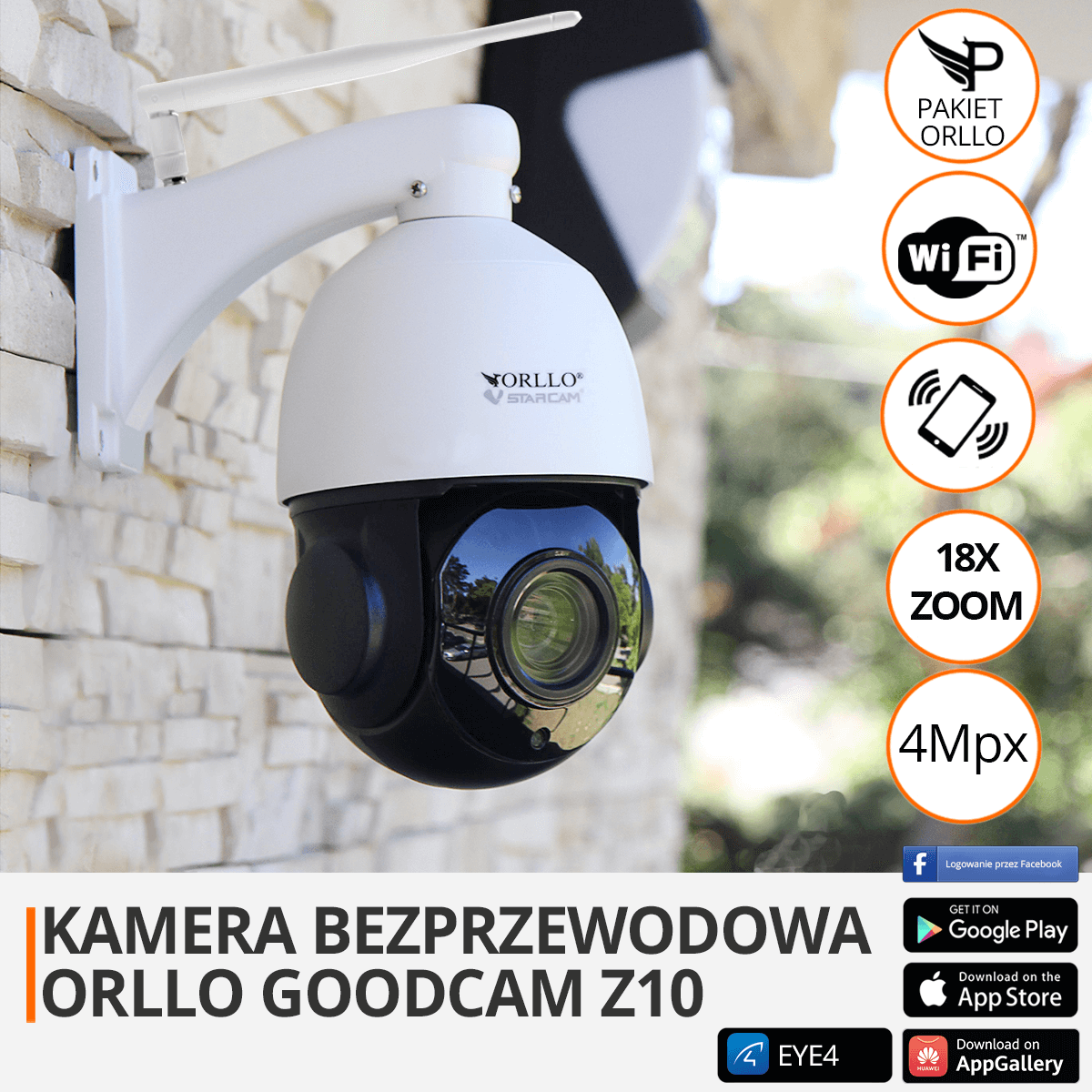 kamera zewnetrzna przemyslowa obrotowa z zoom orllo.pl
