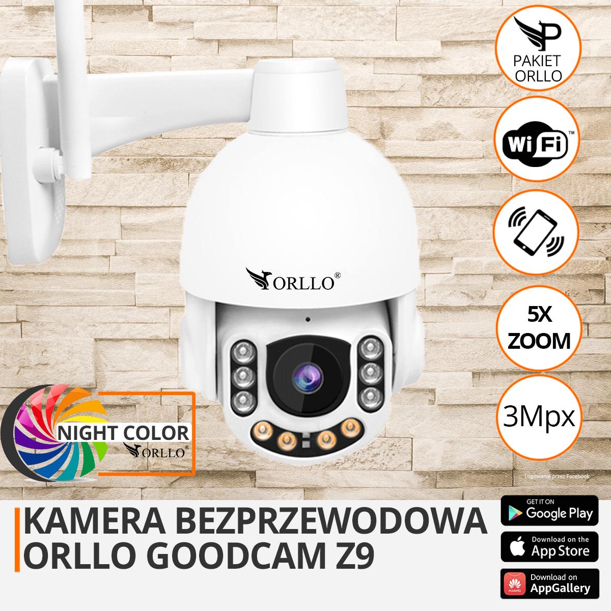 kamera zewnetrzna obrotowa orllo.pl