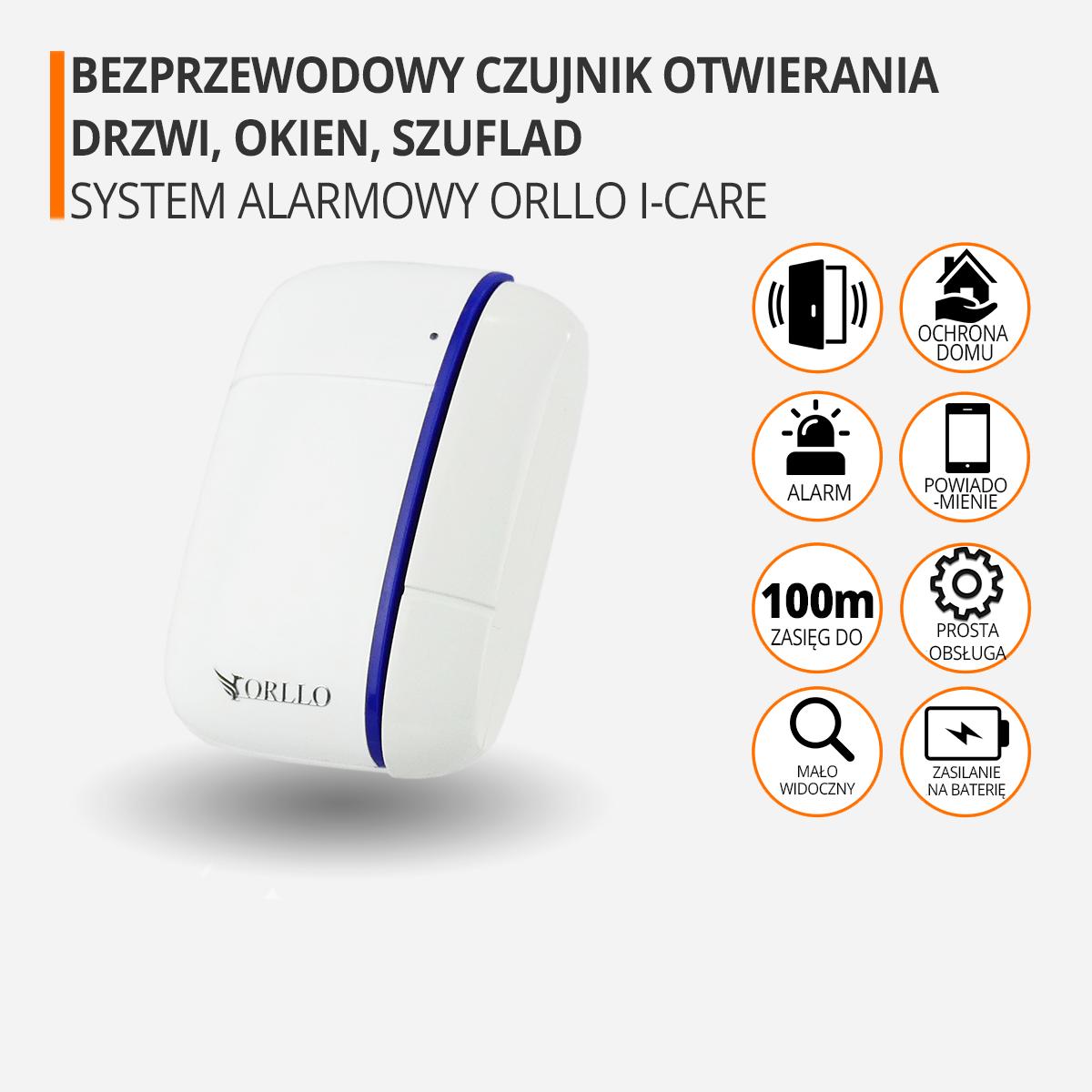 Centrala alarmowa czujnik otwierania drzwi orllo-pl