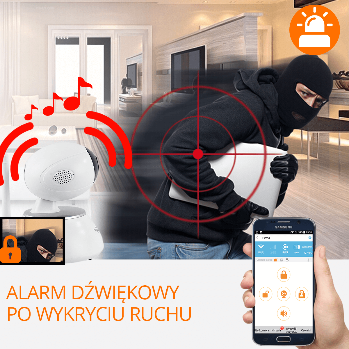 Centrala alarmowa kamera wykrywanie ruchu orllo-pl