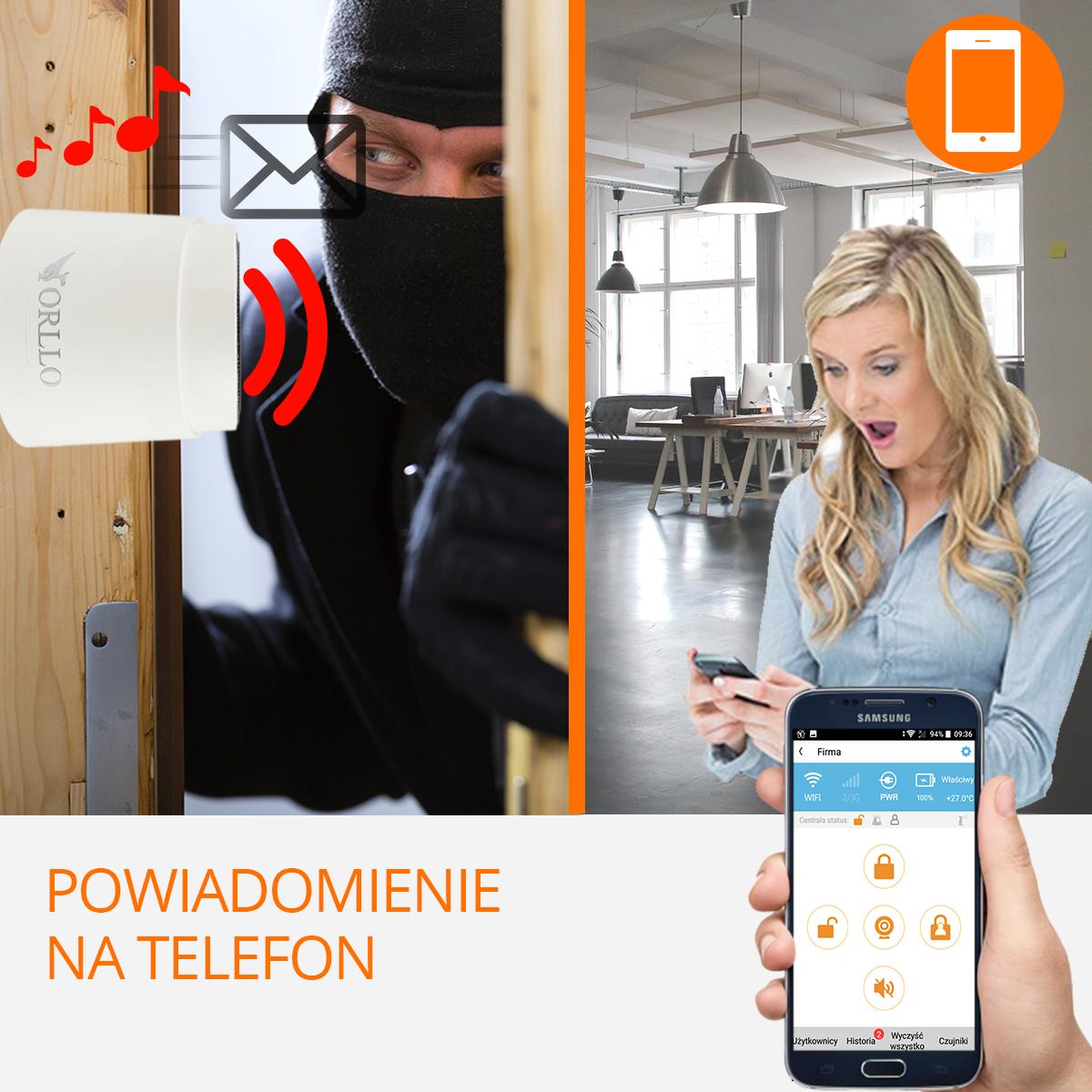 Centrala alarmowa powiadomienie na telefon syrena wewnetrzna orllo.pl