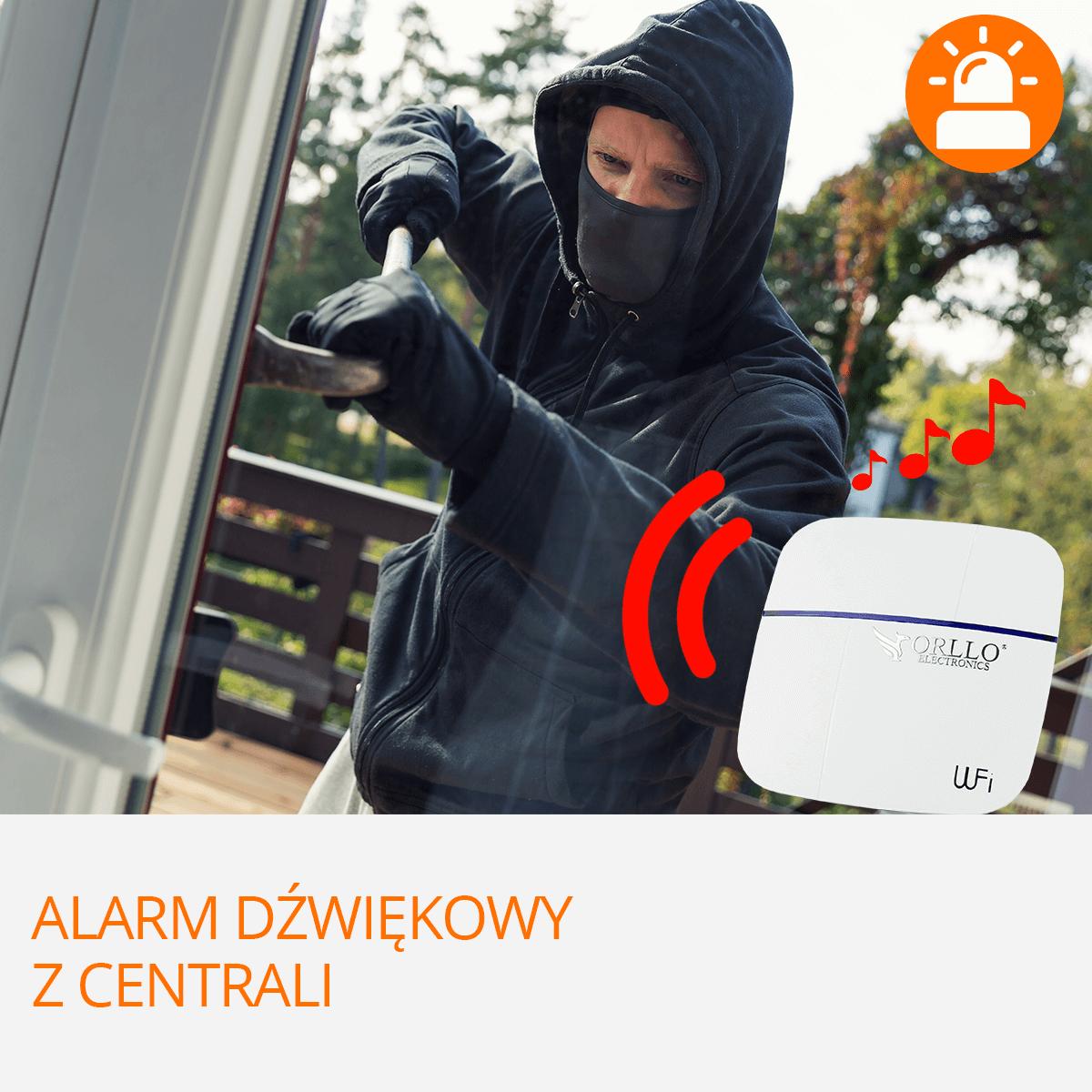 centrala alarmowa wifi z alarmem dzwiekowym orllo.pl