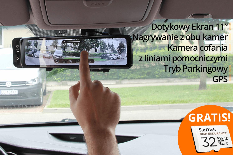 kamera samochodowa w lusterku przod tyl gps  orllo.pl