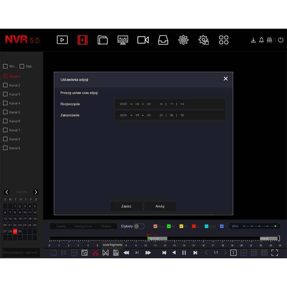 Rejestrator nvr do monitoringu ch9 9 kamer funkcje orllo.pl
