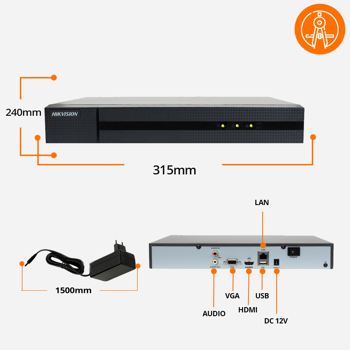 Rejestrator NVR hikivision specyfikacja