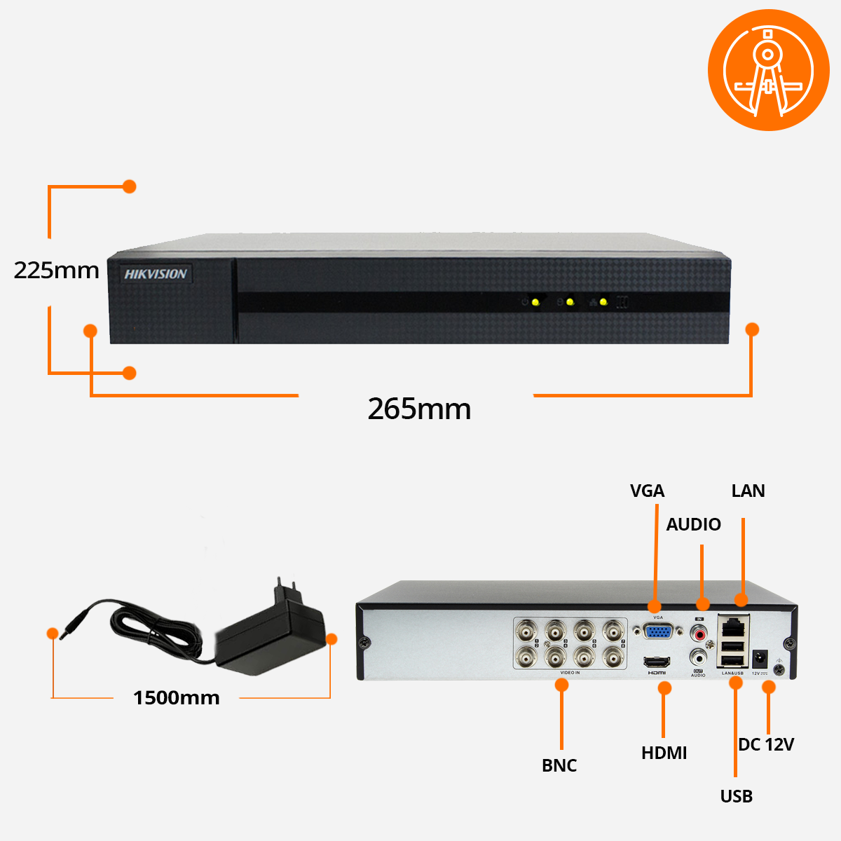 Rejestrator XVR hikivision specyfikacja