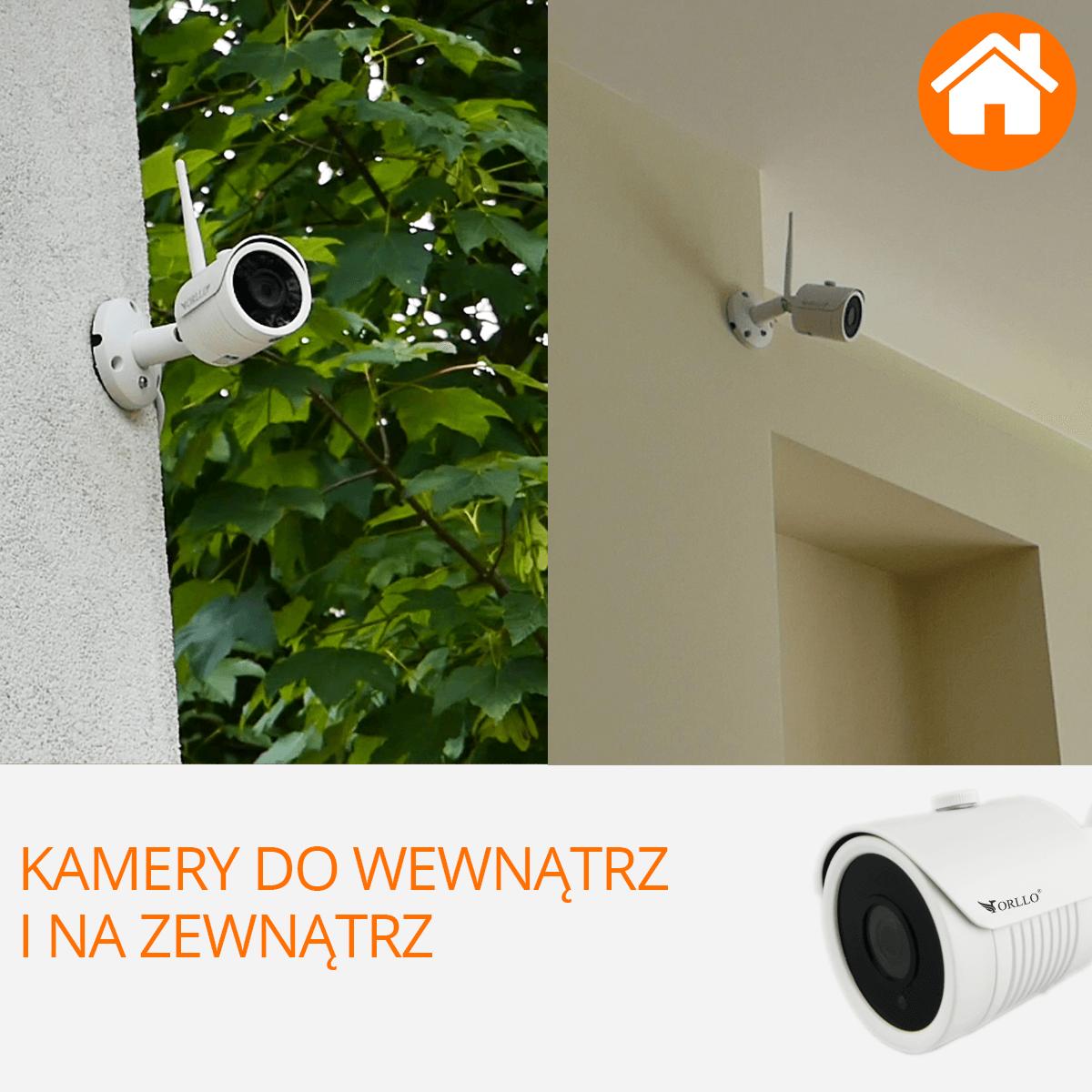 Zestaw do monitoringu CAMSET wewnatrz zewnatrz orllo.pl