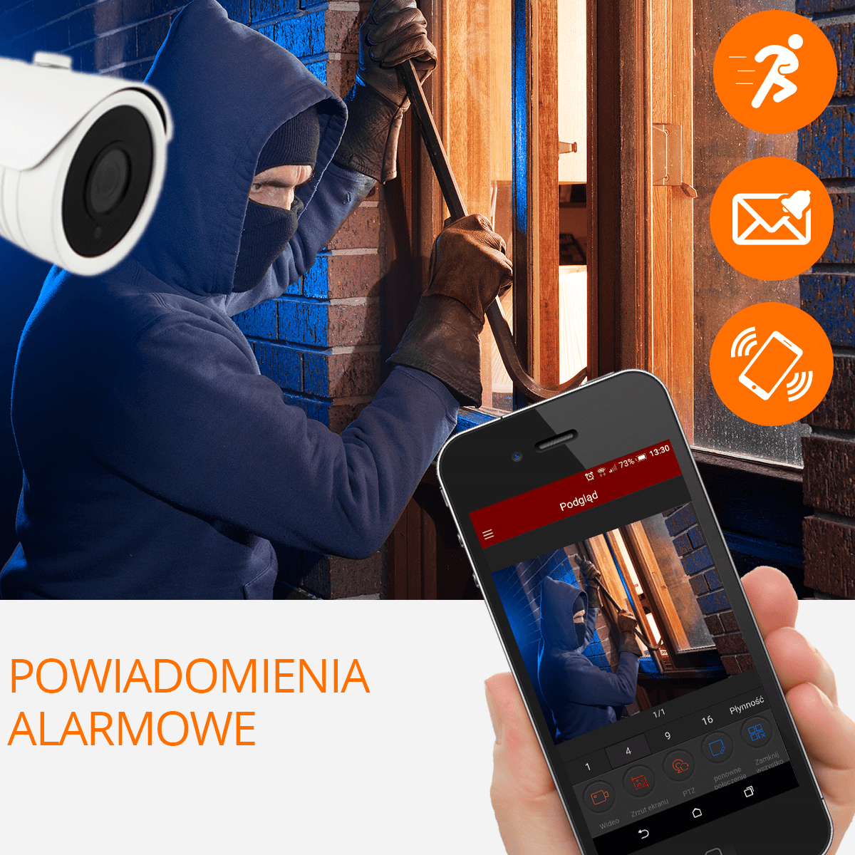 Zestaw do monitoringu camset alarm orllo-pl