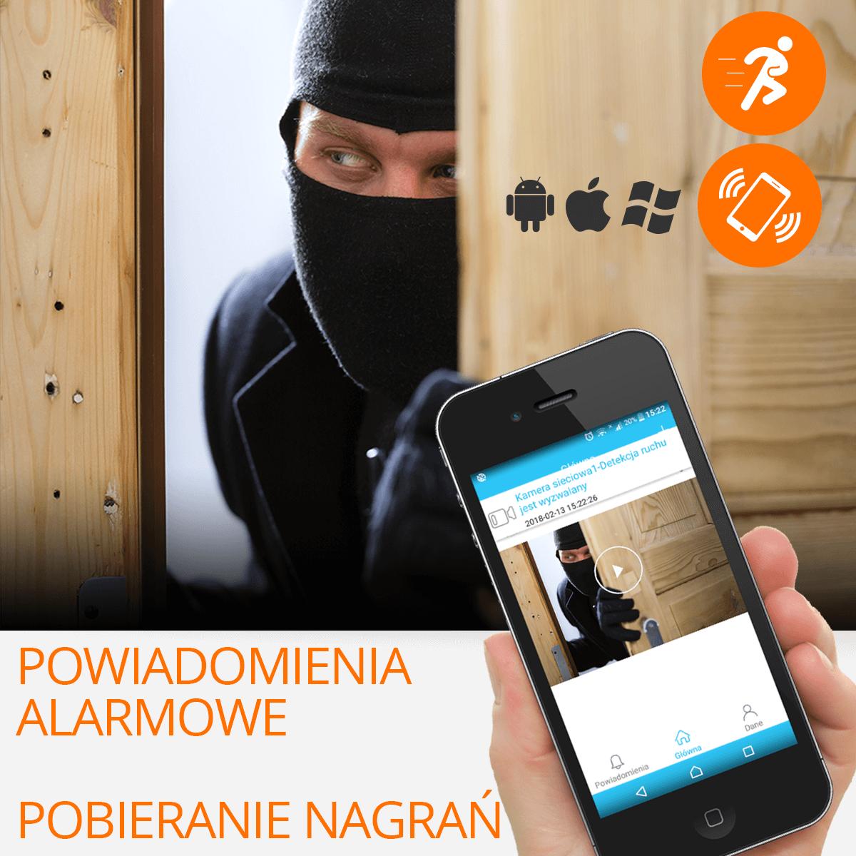 kamera ip wifi zewnetrzna wykrywanie ruchu orllo.pl
