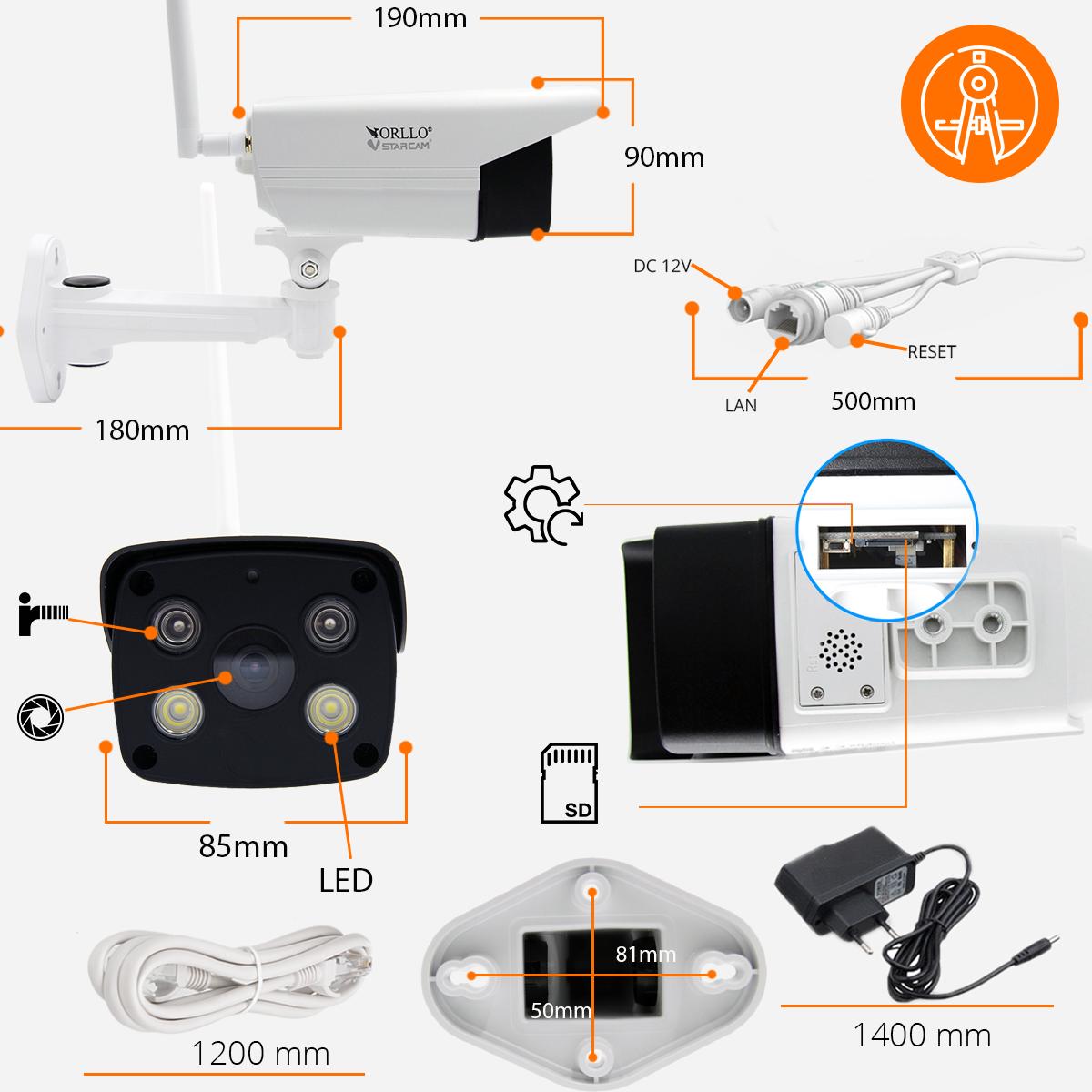 specyfikacja kamery IP WiFi orllo.pl