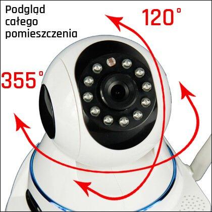 Kamera IP z obrotową głowicą