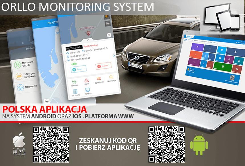 lokalizator GPS do auta z polską aplikacją mobilną i serwerem www - orllo.pl