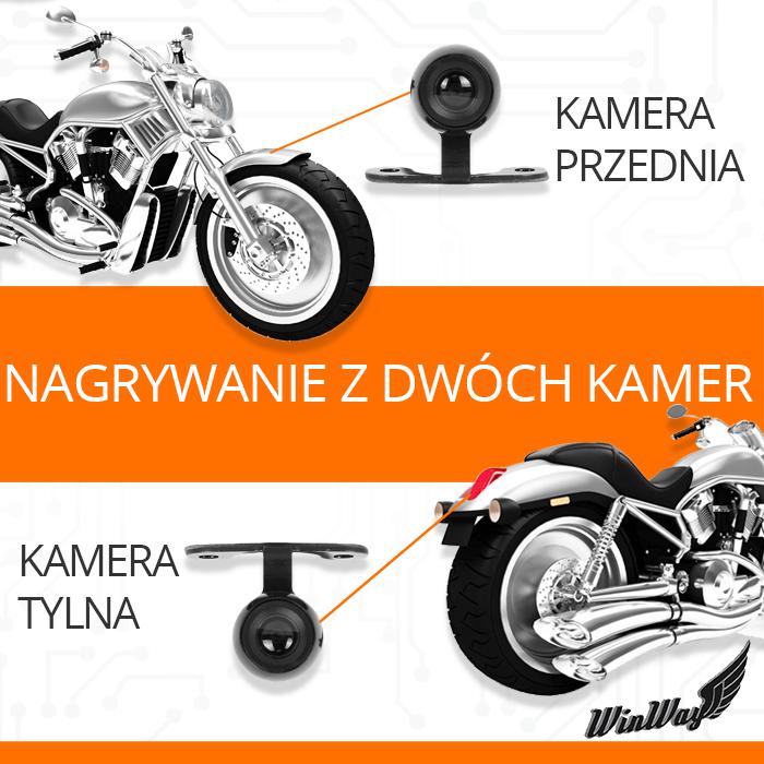 kamera motocyklowa full hd przód tył orllo.pl