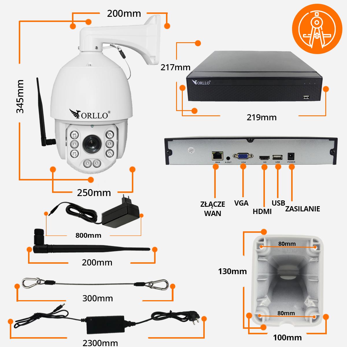 kamera-bezprzewodowa-specyfikacja- obrotowa zoom