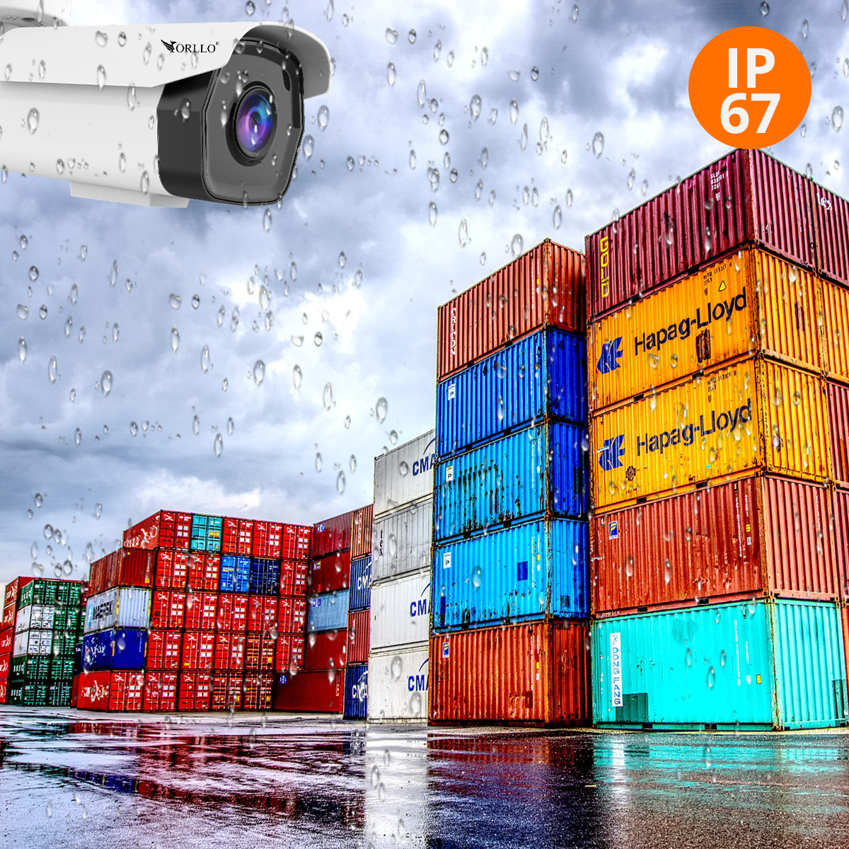 kamera ip zewnętrzna z zaznaczeniem obszarów orllo.pl