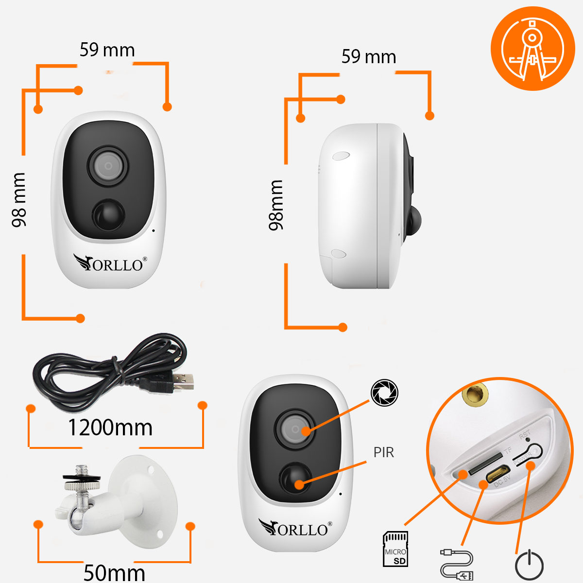 kamera bezprzewodowa WiFI do samochodu orllo.pll
