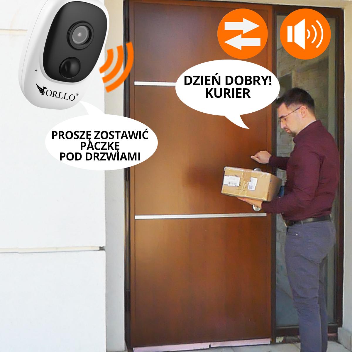 kamera na baterie wifi dwustronnakomunikacja orllo.pl