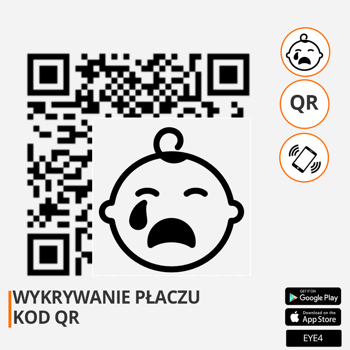 kod qr wykrywanie płaczu orllo.pl orllo.pl