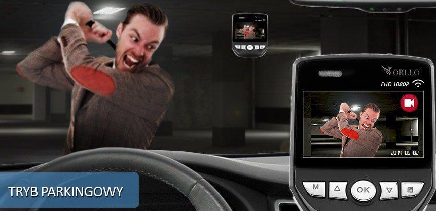 kamera samochodowa do monitorowania samochodu na parkingu - Orllo.pl