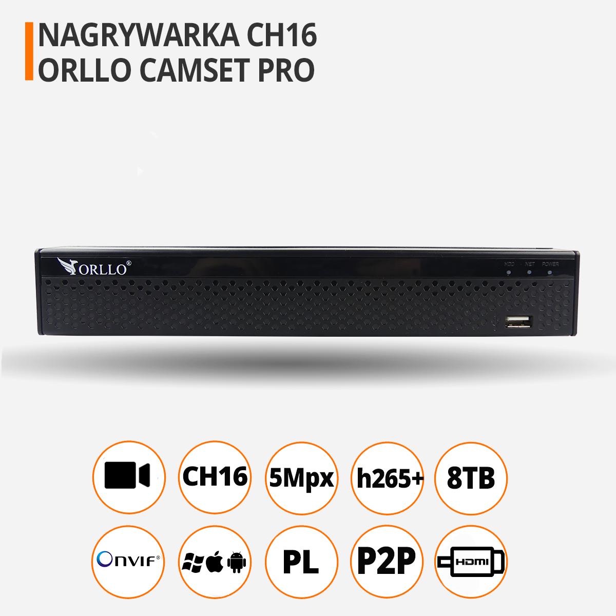 Rejestrator nvr do monitoringu ch16 16 kamer funkcje orllo.pl