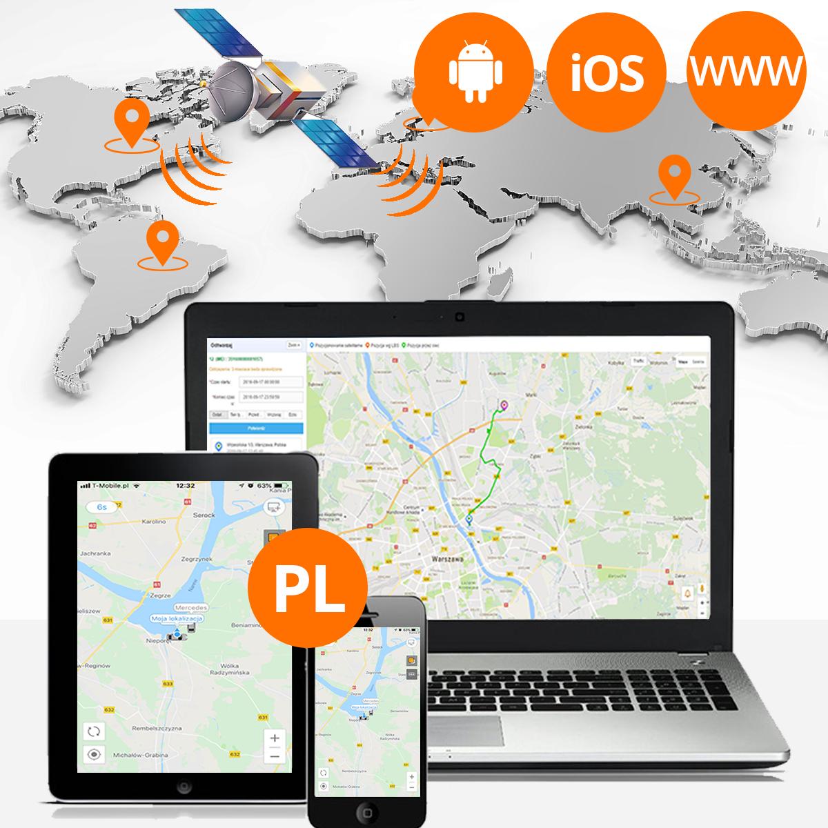 Lokalizator GPS samochodowy WWW orllo.pl