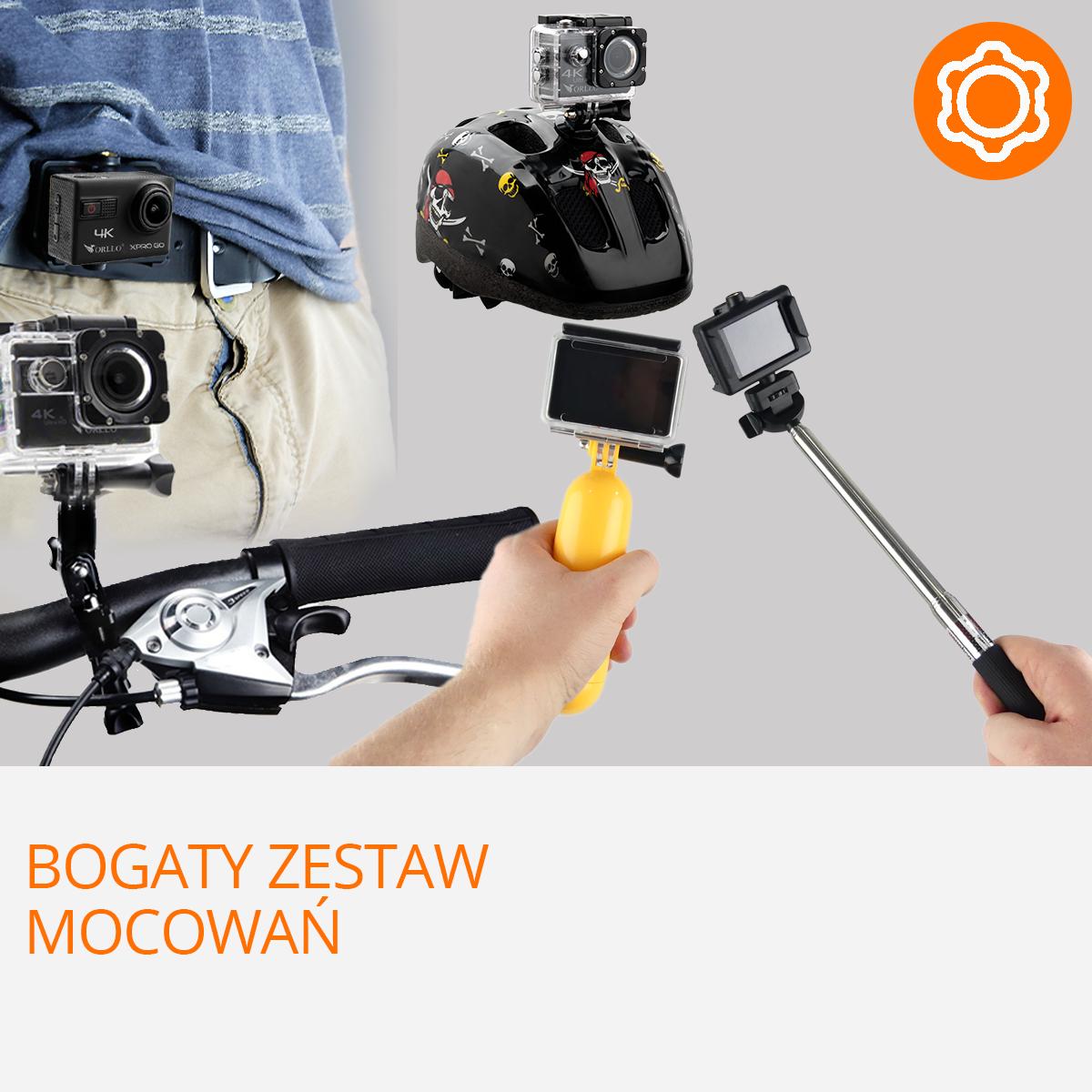 Kamera sportowa mocowania orllo pl