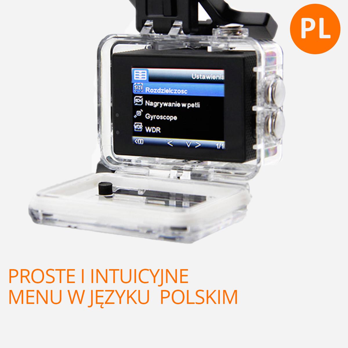 kamera sportowa polskie menu orllo.pl