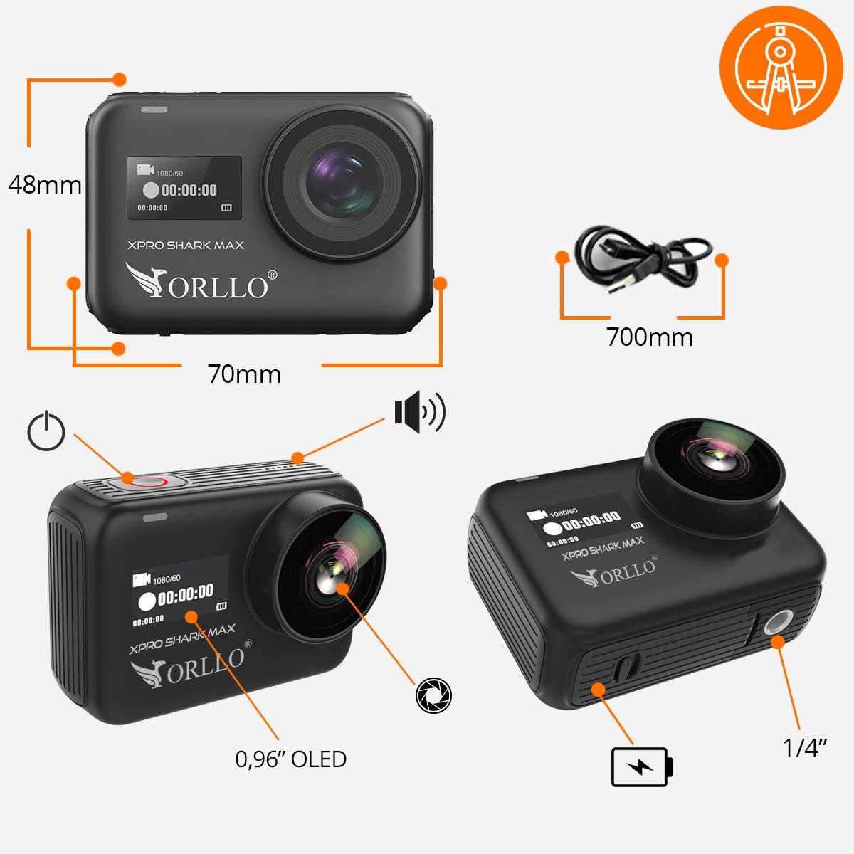 kamera sportowa 4k specyfikacja orllo.pl