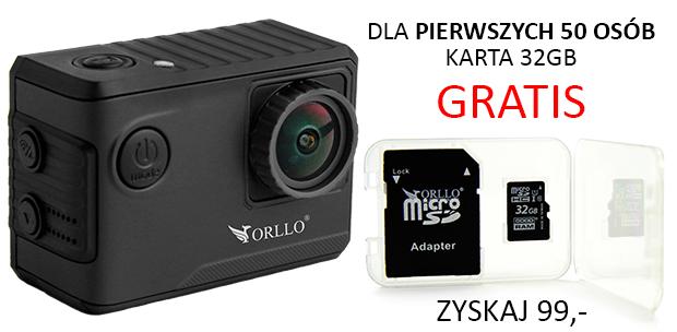 kamera sportowa w promocji z kartą pamięci - orllo.pl