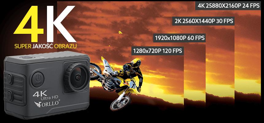 kamerka sportowa nagrywanie w 4K