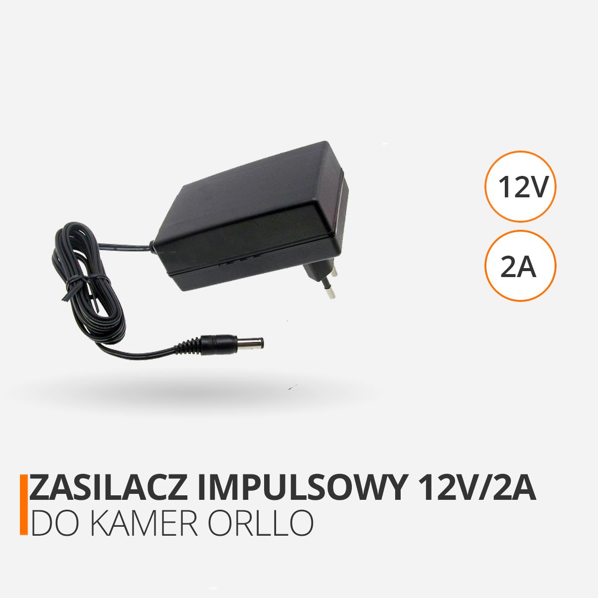 zasilacz impulsowy do kamer orllo 12V orllo.pl